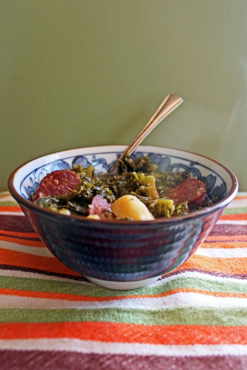 kale soup with chorizo